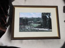 "VINTAGE GILT FRAMED GLAZED PRINT VICTORIAN FAMILY DAY OUT NICE SIZE 15"" X 11"""